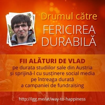 """Alaturi de Vlad, pe """"Drumul catre fericirea durabila"""""""