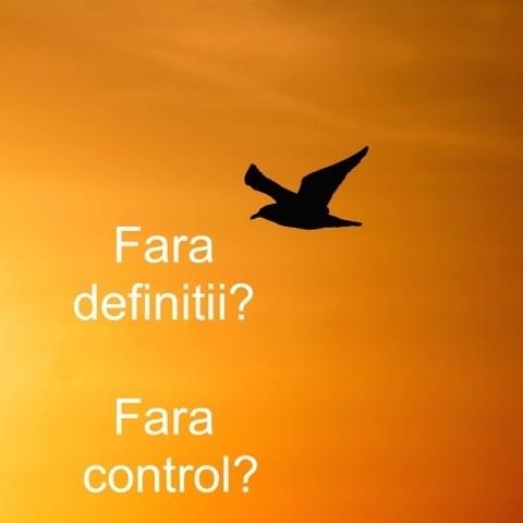 Cum ar fi sa traiesti in afara definitiilor si in afara controlului?