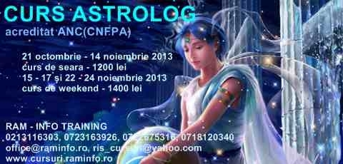 "CURS ""ASTROLOG"" cod COR 516101 - acreditat CNFPA (ANC)"