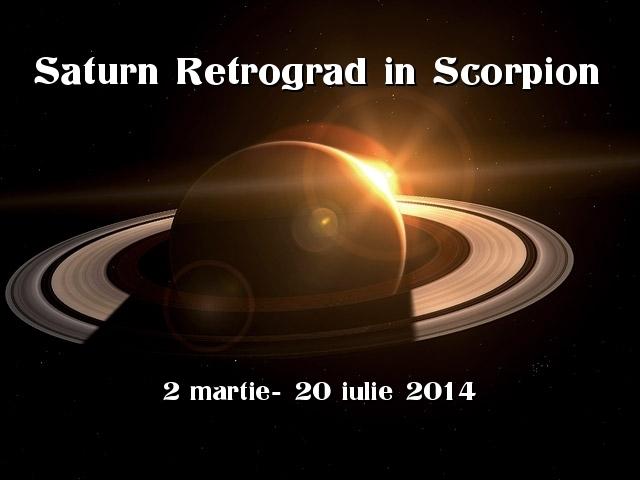 Eficiența- Saturn în mișcare aparent retrogradă (2 martie- 20 iulie 2014)