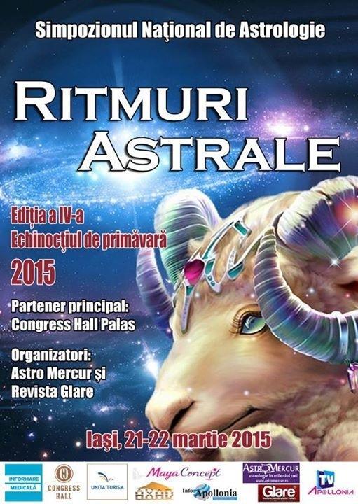 Invitatie la Simpozionul National de Astrologie Ritmuri Astrale, IAȘI 21-22 martie 2015