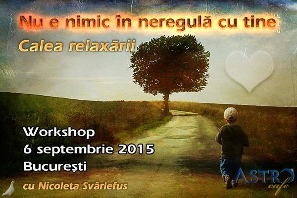 Nu e nimic in neregula cu tine. Workshop, 6 septembrie 2015, Bucuresti