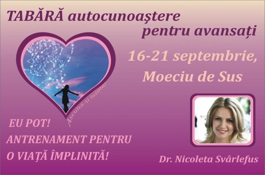 Tabara: EU POT! Antrenament pentru o viata implinita! 16-21 septembrie 2010