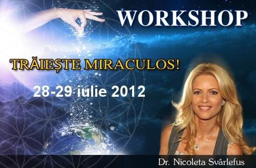 TRAIESTE MIRACULOS! Workshop, 28-29 iulie 2012, Bucuresti